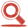 Red-search icon