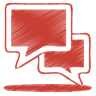 Red-talk icon