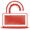 Red-unlock icon
