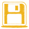 Yellow-disk icon