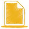 Yellow-document icon