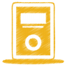 Yellow-mp3-player icon