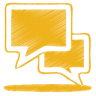 Yellow-talk icon