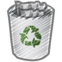 Scribble-bin-full icon