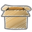 Scribble box open icon