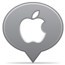 social balloon apple icon