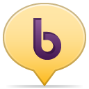 Social balloon b icon