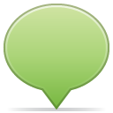 Social balloon color green bright icon
