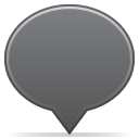social balloon color grey icon