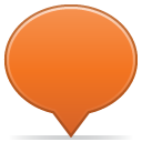 social balloon color orange icon