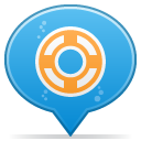 Social-balloon-designfloat icon