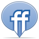 social balloon friendfeed icon