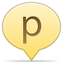 social balloon p icon