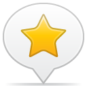 social balloon star icon
