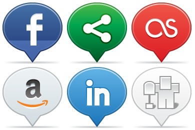 Social Balloons Icons