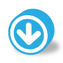 Button round dark arrow down icon