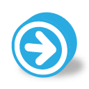button round dark arrow right icon