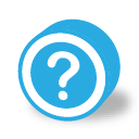 button round dark question icon