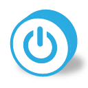 button round power icon