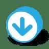 Button-round-arrow-down icon