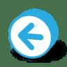 Button-round-arrow-left icon