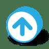 Button-round-arrow-top icon