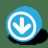 Button-round-dark-arrow-down icon