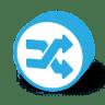 Button-round-random icon