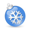 Xmas ball blue icon