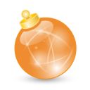 Xmas-ball-orange icon