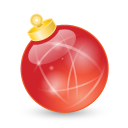 xmas ball red icon