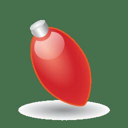Xmas light red icon