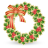 xmas wreath icon