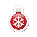 xmas sticker ball red icon