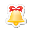 Xmas sticker bell icon