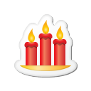 Xmas-sticker-candles icon
