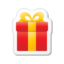 Xmas-sticker-gift icon