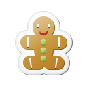 xmas sticker gingerbread icon