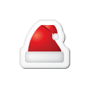 Xmas sticker hat icon