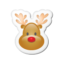 xmas sticker reindeer icon