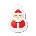 xmas sticker santa icon