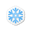 Xmas sticker snowflake icon