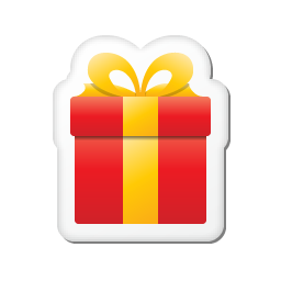 xmas sticker gift icon