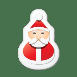 Xmas sticker santa icon