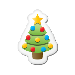 Xmas sticker tree icon