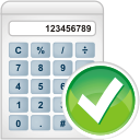 calculator accept icon