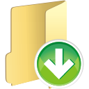 folder down icon