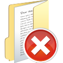 folder full delete icon
