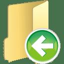 folder previous icon