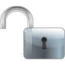 Lock off disabled icon